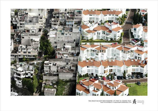 ¿Photoshop? NO, realidad. Imágenes de la abismal desigualdad del barrio de Santa Fe en la Ciudad de México 2