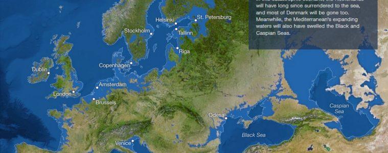 Así sería el mundo si todo el hielo de la Tierra se derritiese 18