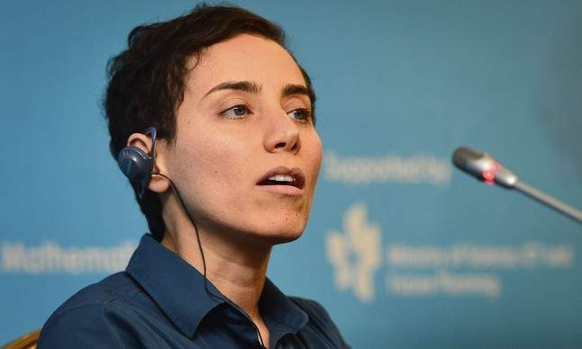 Iranian mathematician Maryam Mirzakhani speaks during a news conference after the awards ceremony at the International Congress of Mathematicians 2014, in Seoul