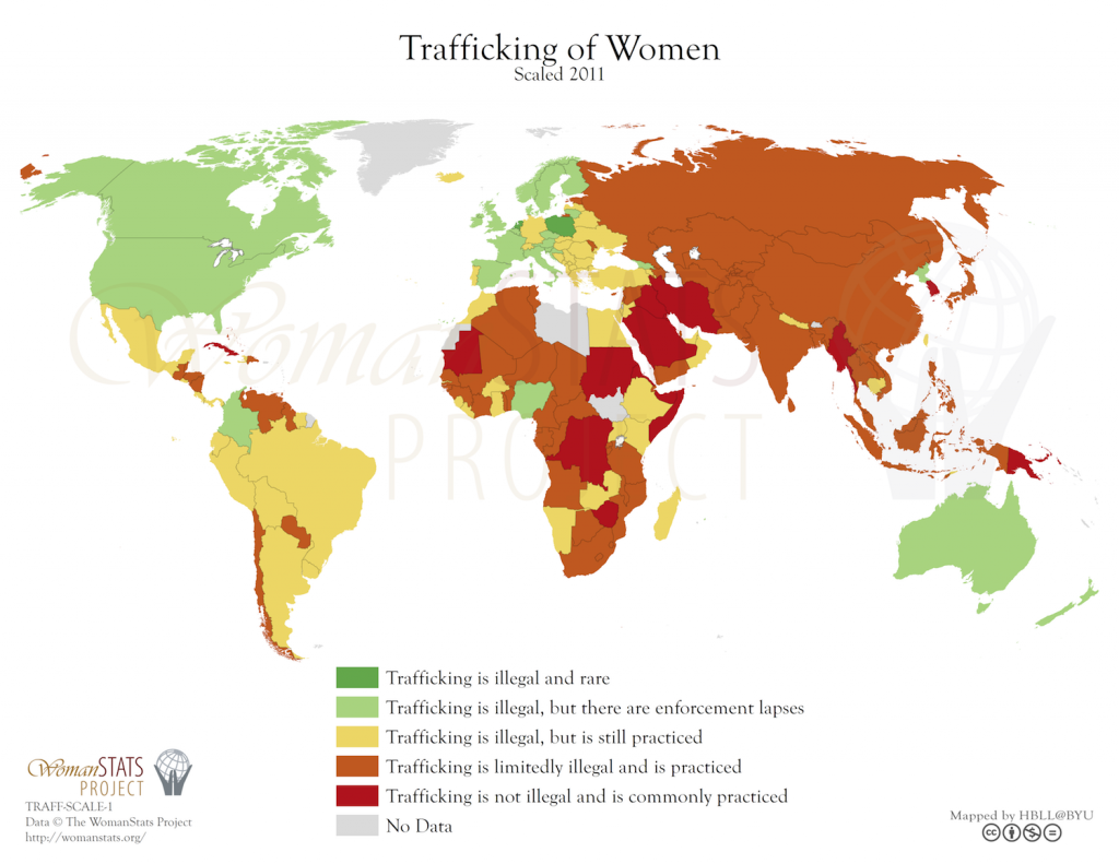 Trata de mujeres. Fuente: Woman Stats