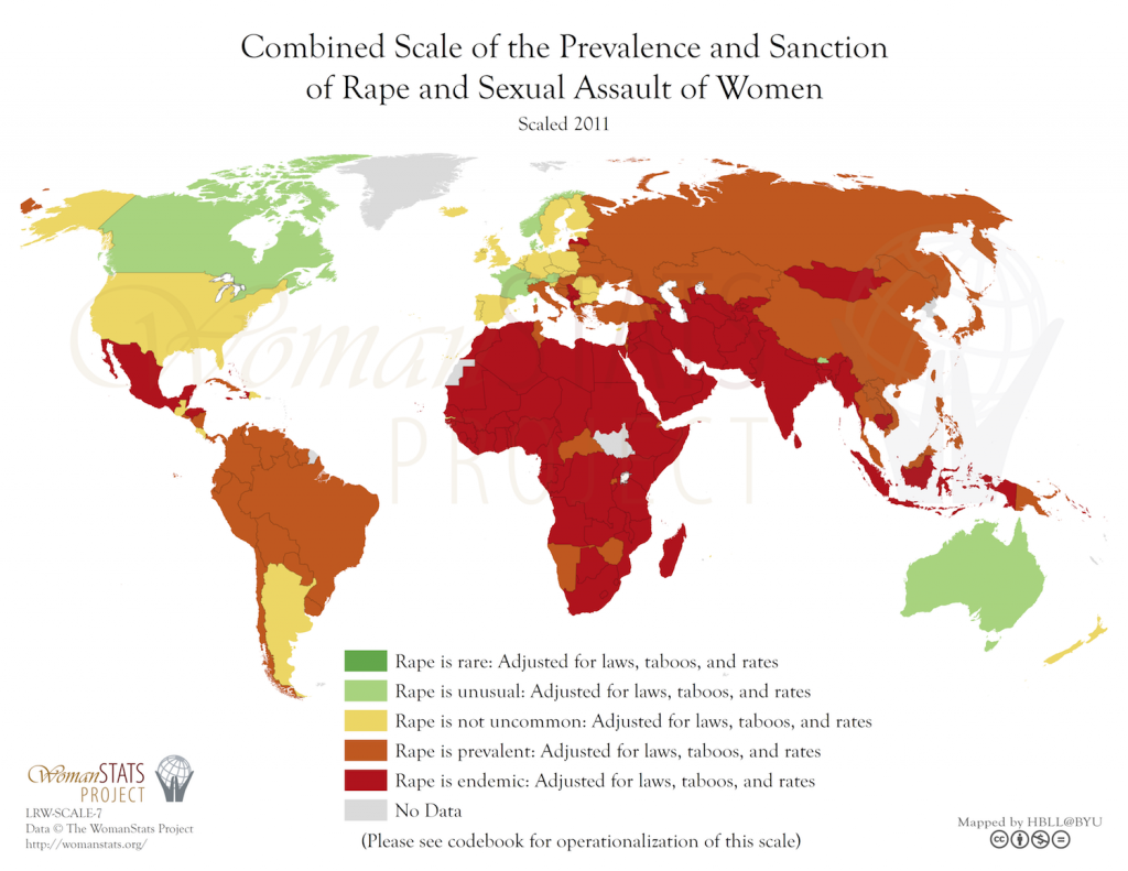 Legislación inclusiva en relación a la violación. Fuente: Woman Stats