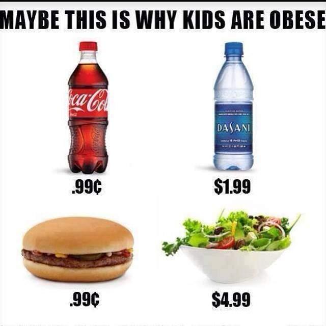 porque los niños son obesos