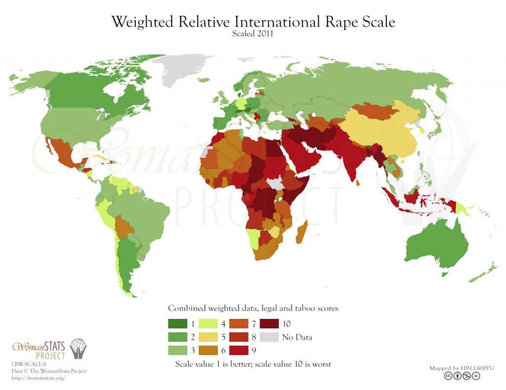 Escala de violación internacional. Fuente: Woman Stats