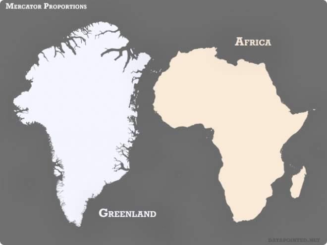 Que no te engañen, este no es el tamaño real de África. Pero este otro sí y te dejará atónito 2