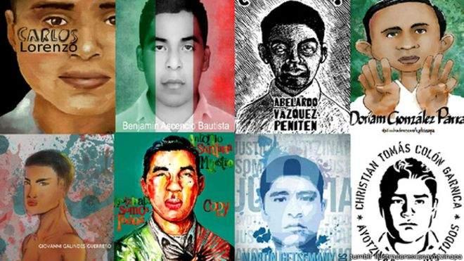 Ilustradores protestan poniéndole rostro a los 43 estudiantes desaparecidos en México 1