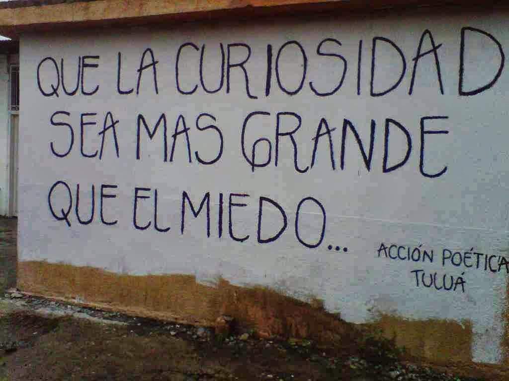 Acci³n Poética MUHIMU curiosidad mas grande que el miedo