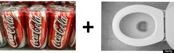 Coca-Cola para limpiar la taza del váter