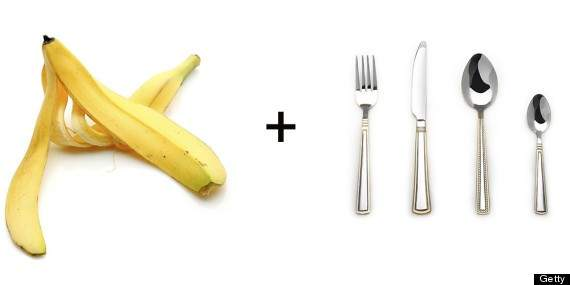 La piel del plátano sirve para limpiar la plata
