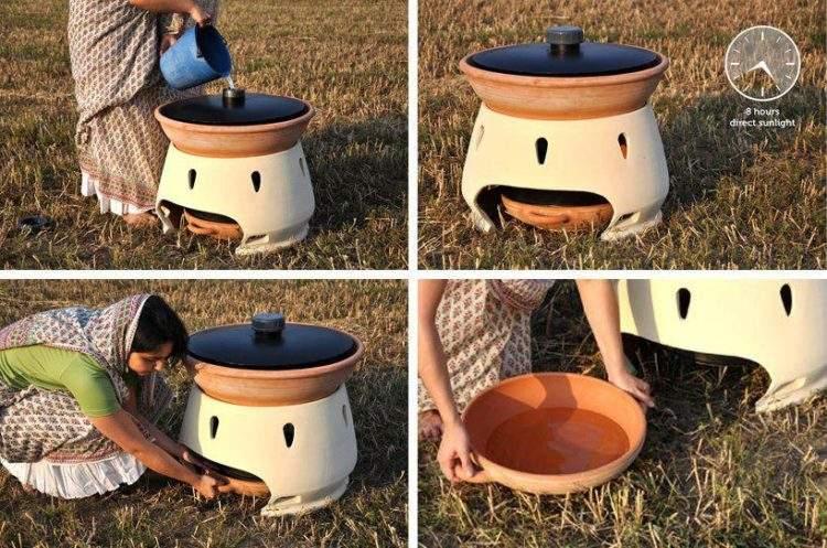 Diseñan un horno solar que es capaz de purificar el agua salada 2