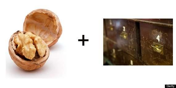 nueces para quitar los rayones en muebles de madera