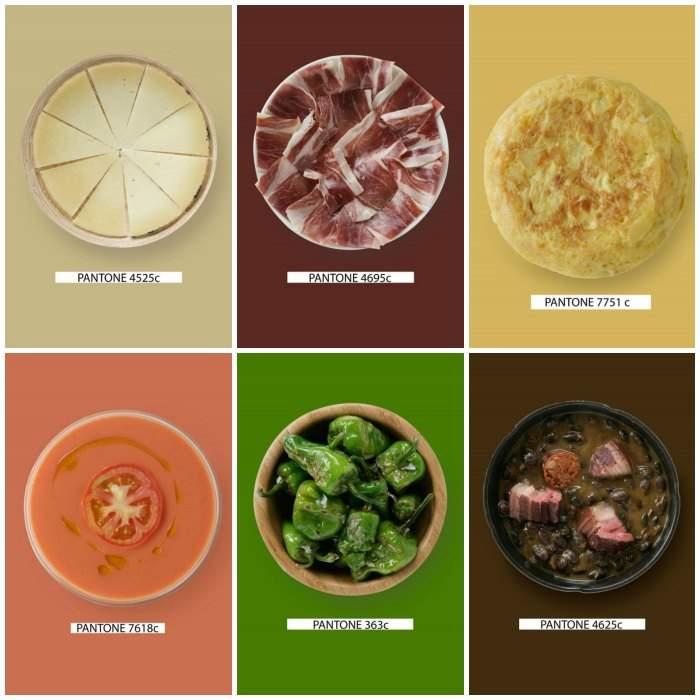 Descubre qué color pantone corresponde a cada plato tradicional y cual falta en nuestra gastronomía