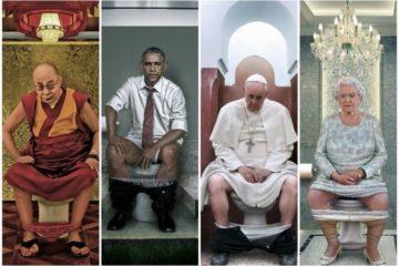 Una artista italiana representa a los líderes mundiales en el 'trono' 22