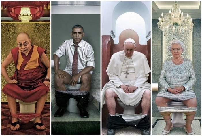 Una artista italiana representa a los líderes mundiales en el 'trono' 2