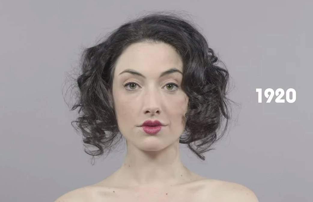 El vídeo viral de 60 segundos que muestra la belleza femenina a lo largo de un siglo 6