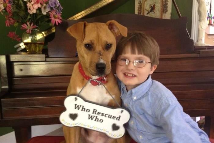 Esta es la historia de Jonny y Xena, un niño con autismo y una perra maltratada 8