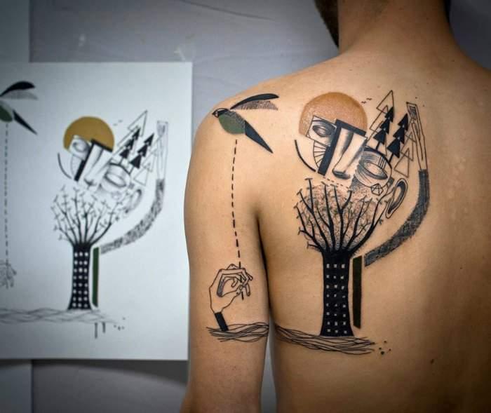 Dos artistas revolucionan el mundo de los tatuajes creando piezas únicas basadas en la vida de sus clientes 6
