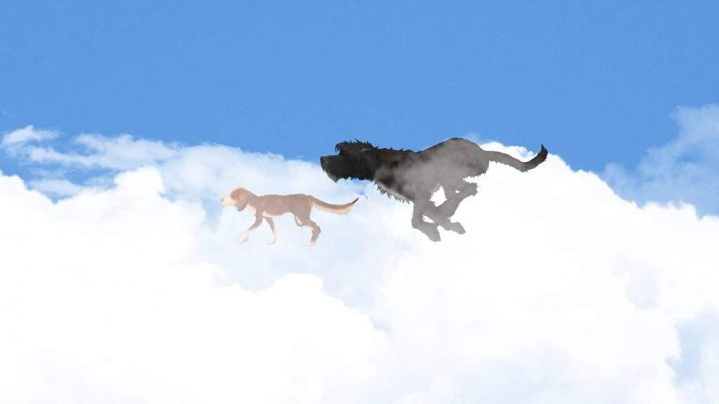 Rayita despedida perro corto animación