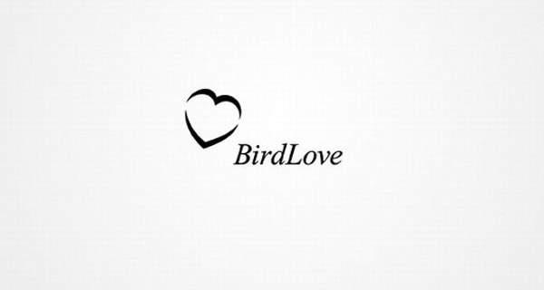 Corazón y ave.
