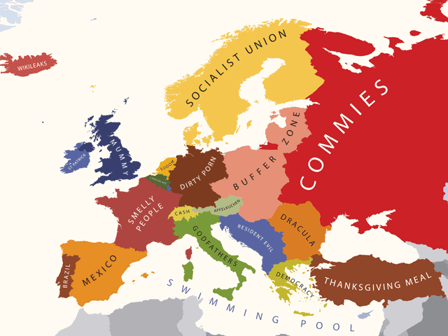 Los prejuicios sobre Europa y los europeos en 15 mapas 7