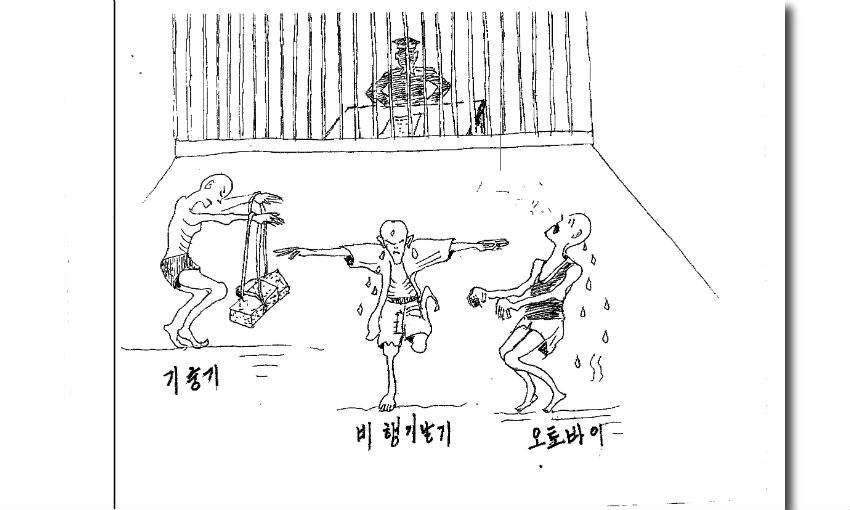 corea del norte prisioneros dibujo