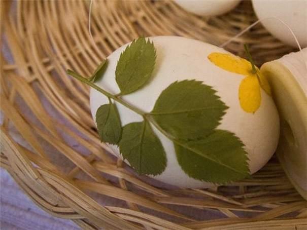 hoja huevo pascua