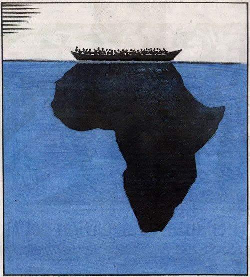 iceber inmigracion africa