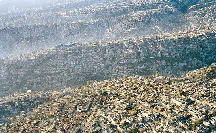 Paisaje de la Ciudad de Méxic, 20 millones de habitantes