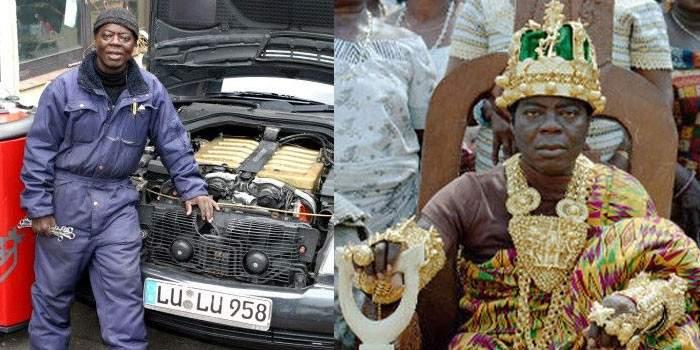 El rey africano que gobierna desde Alemania por Skype 2