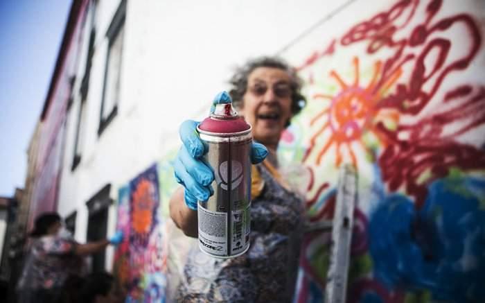 Un grupo de abuelas graffiteras rompen estereotipos y revolucionan las calles de Lisboa 1