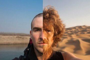 El viaje más largo del mundo: vive cómo cambió el rostro de este hombre tras caminar 4.500 km 12