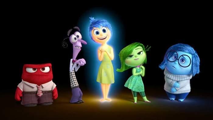 Los personajes de la película 'Inside Out' representan 5 emociones