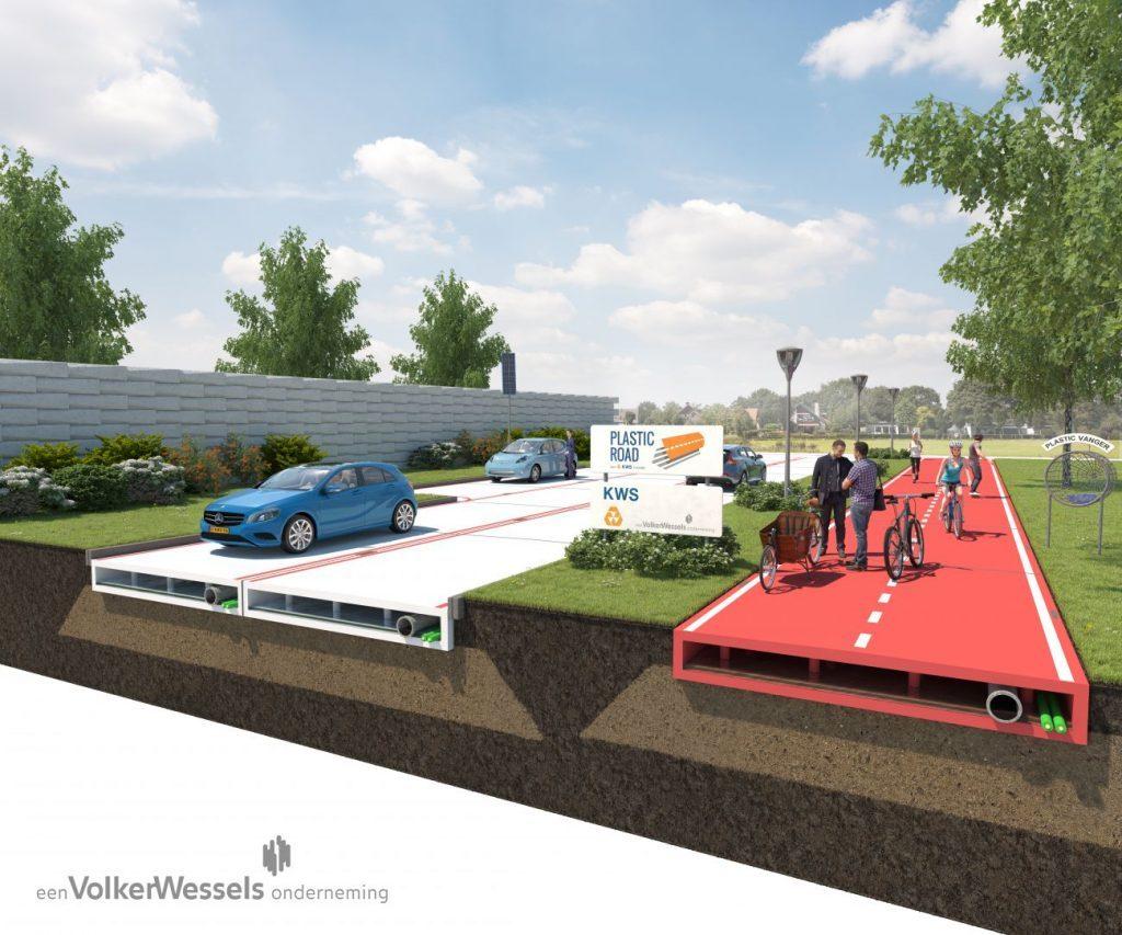 Desvelados planes para construir carreteras de plástico reciclado por parte del ayuntamiento de Rotterdam. Fotografía: VolkerWessel