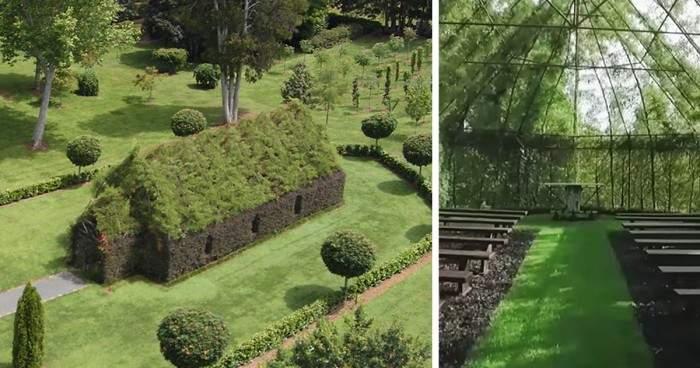 """Un hombre pasó 4 años para """"crecer"""" una iglesia con árboles 2"""