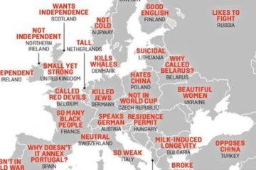 """Los no tan """"hilarantes"""" estereotipos de los chinos sobre Europa 4"""