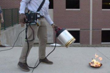 Dos estudiantes desarrollan un extintor que apaga el fuego utilizando el sonido 8