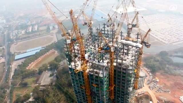 ¿Es posible construir un edifcio de más de 200 metros en menos de 20 días? En China sí. 1
