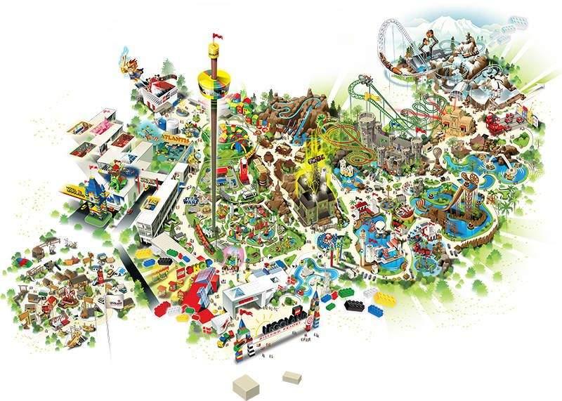 Mapa de Legoland Billund