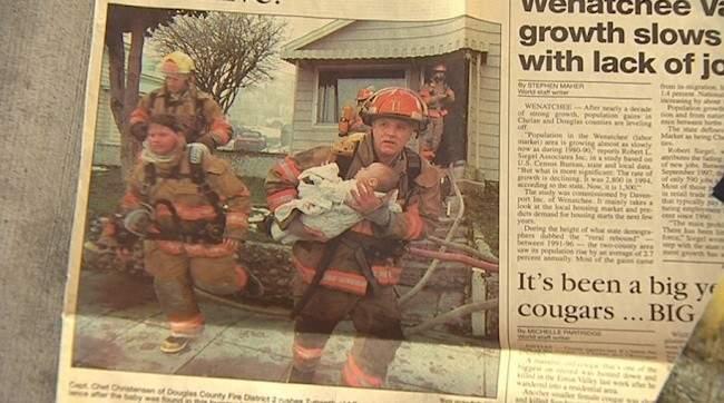 Un bombero salvó a un bebé y esto fue lo que ella hizo por él 17 años después 2