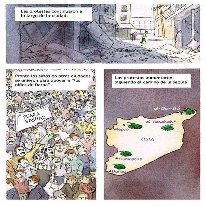 protestas siria comic