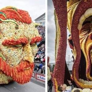 19 gigantestas estructuras de flores honran a van Gogh en el mayor desfile floral del mundo 12