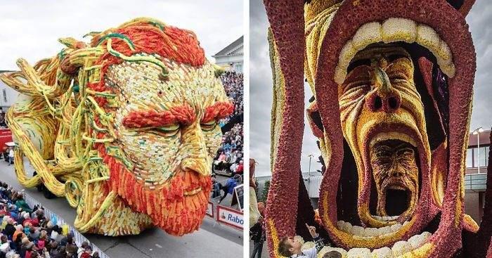 19 gigantestas estructuras de flores honran a van Gogh en el mayor desfile floral del mundo 1