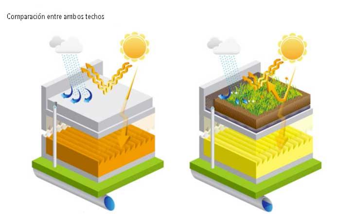 beneficios techos verdes