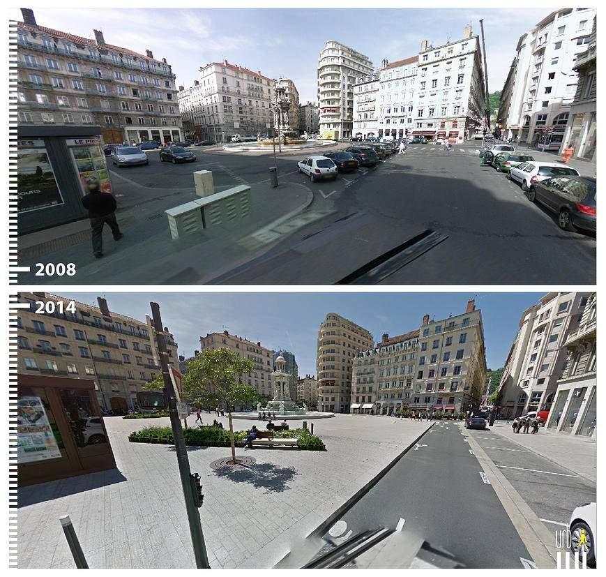 Plaza de los Jacobinos, Lion, Francia.