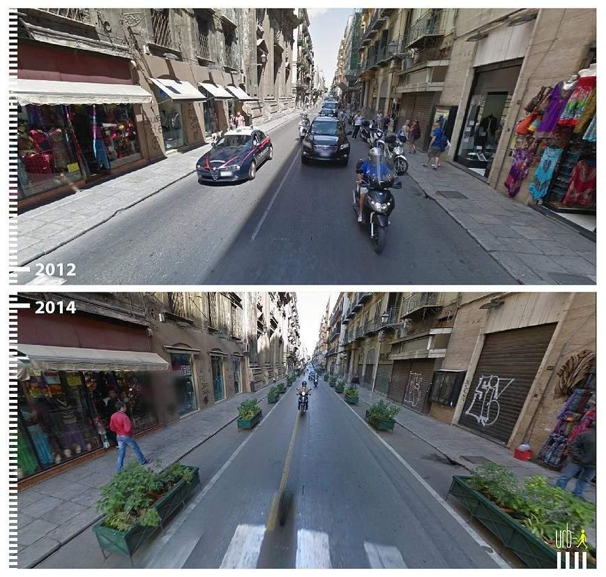 Via Maqueda, Palermo, Italia.