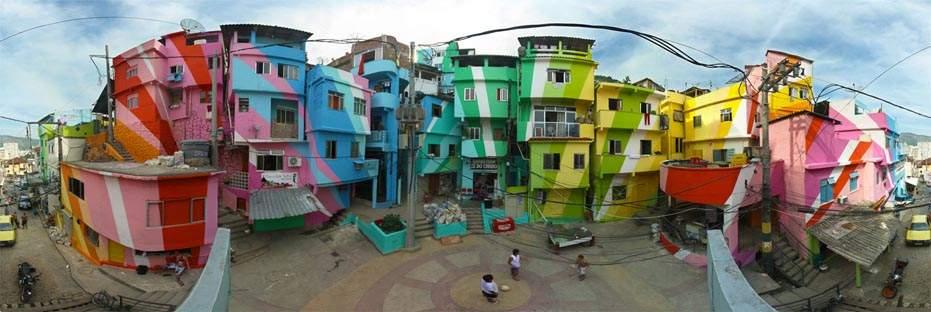 Así es cómo unos artistas holandeses transformaron una favela de Brasil tan sólo usando pintura 18