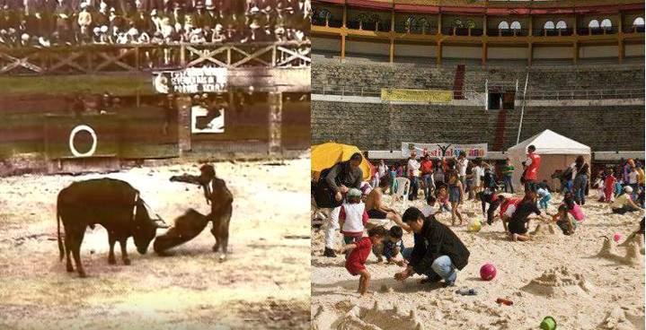 El espectacular antes y después de la plaza de toros La Santamaría en Bogotá 1