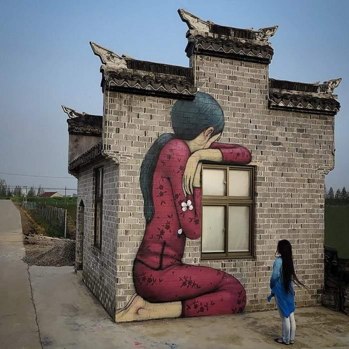 Muros y edificios anodinos se convierten en auténticas obras de arte de la mano de este artista 14
