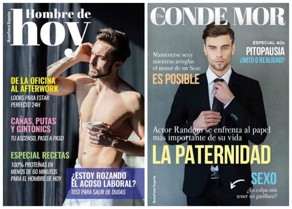 ¿Cómo serían las revistas para hombres en una sociedad hembrista? 1
