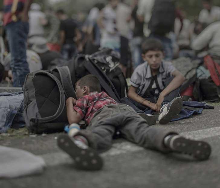 5. Ahmad, 7 años, en Horgos:Roszke.