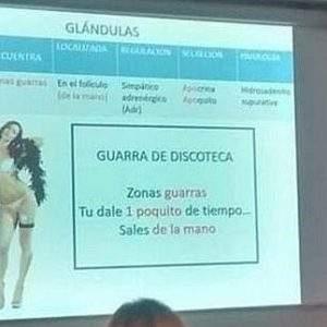 """Un médico utiliza de ejemplo a """"las guarras de discoteca"""" para explicar cómo funcionan las glándulas 16"""